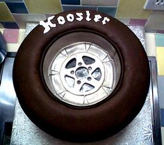racing tire grooms cake