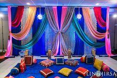 Colorful sangeet decor Lin & Jirsa Photography shaadishop.co