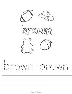 brown coloring pages for preschoolers - photo#17