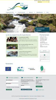 Site Life Haute Dronne, projet porté par le PNRPL (Parc National Périgord-Limousin) - www.life-haute-dronne.eu #Webdesign #Créationgraphique #Siteinternet