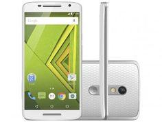 "Smartphone Motorola Moto X Play 32GB Dual Chip 4G - Câm. 21MP + Selfie 5MP Tela 5.5"" Proc. Octa Core."