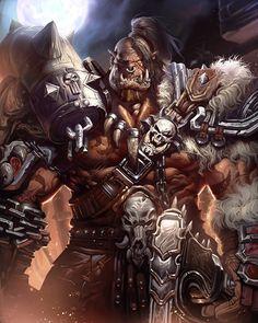 World of Warcraft Warcraft Heroes, World Of Warcraft Game, Warcraft Movie, Warcraft Characters, Fantasy Characters, Grom Hellscream, Garrosh Hellscream, Grommash Hellscream, Orc Warrior