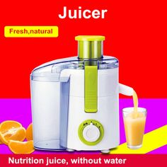 Fruit and vegetable juice extractor large-diameter electric household fruit juicers mini blender automatic juice machine