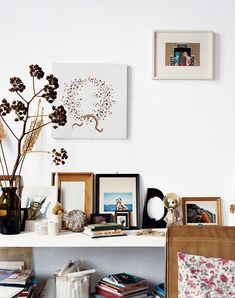 Gallery wall in white living room