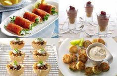 50 quick and easy canapes, Quick and easy homemade canapes recipes and ideas to pass round at a party, including savoury and sweet nibbles from mini Parma ham tarts and pea and prawn crostini to caramel Nutella lollies. Easy Canapes, Canapes Recipes, Appetizer Recipes, Canapes Ideas, Salmon Appetizer, Christmas Canapes, Christmas Buffet, Nibbles For Party, Snacks Für Party