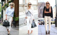 Уличная мода: Все секреты базового гардероба в модных образах фэшн-блоггера Linda Juhola White Jeans, Pants, Style, Fashion, Trouser Pants, Swag, Moda, Fashion Styles, Women's Pants