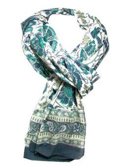 Anokhi 100% Cotton Voile Peacock Fashion Scarf *New for Spring Anokhi. $29.95