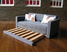 This modern Japanese style futon sofa bed is called the Fiji it