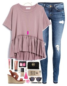 """""""proud of this"""" by conleighh ❤ liked on Polyvore featuring H&M, Too Faced Cosmetics, NARS Cosmetics, Lord & Taylor, MICHAEL Michael Kors, ILI, Casetify, Kendra Scott, Illesteva and Parker"""
