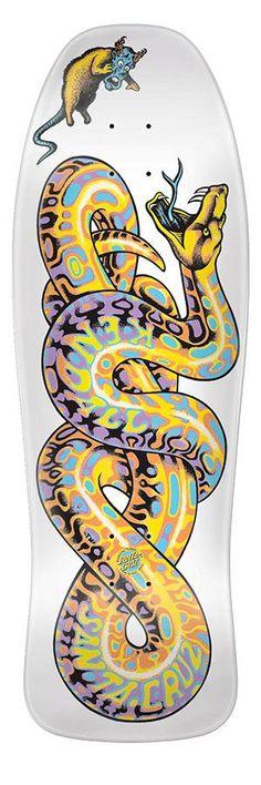 Santa Cruz Jeff Kendall Snake white skateboard deck