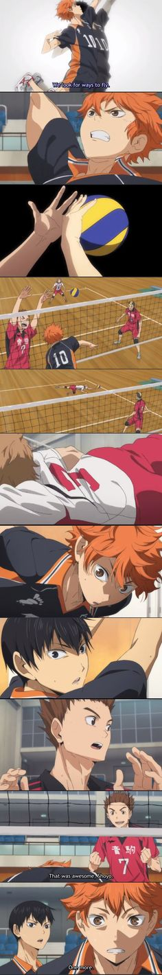 Finally Shoyo was able to control the ball in the air! | HAIKYUU ep12