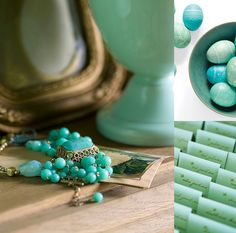 seafoam and turquoise via courtney khail