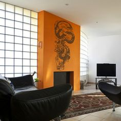 chinese dragon wall decal by beepart on Etsy, $95.00
