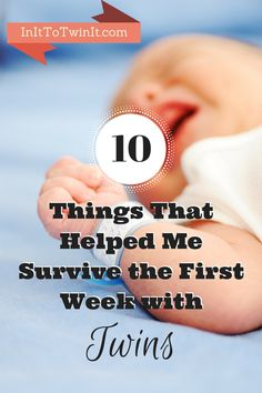 Coming home from the hospital with your twins can be scary and overwhelming. Here are 10 tips to make that first week at home easier.