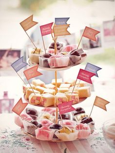 afternoon tea food flags