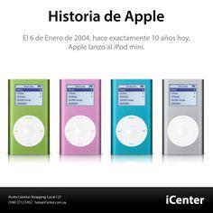Historia de Apple. El 6 de Enero del 2004, hoy hace 10 años exactamente, Apple lanzo al iPod mini.