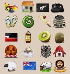Kiwi Icons New Zealand Image, New Zealand Tattoo, Maori Designs, New Zealand Houses, Nz Art, Maori Art, Kiwiana, All Things New, The Beautiful Country