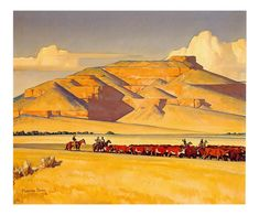 Nevada By Maynard Dixon . Truly Art Offers Giclee Unframed Prints on Paper, Canvas Art, and Framed Art in all our Collections. Landscape Illustration, Landscape Art, Landscape Paintings, Landscapes, Great Paintings, Paintings For Sale, Maynard Dixon, Building Drawing, Desert Art