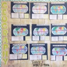 Teaching latitude and longitude - vocabulary, foldable, close reading, and bulletin board resources