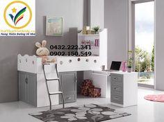 cac-kieu-giuong-tang-go-cong-nghiep-giuong-tang-thap-da-nang-dep Childrens Bunk Beds, Condo Living, Other Rooms, Office Desk, Corner Desk, Vanity, Room Decor, Interior Design, Furniture