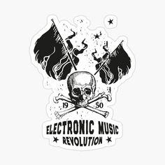 Electronic Music � ELECTRO Music Revolution Sticker � T-Shirt � Electronic Music Revolution � Die Electronic Music vereint die Generationen  und verbindet die Menschen über Grenzen hinweg.  Mit diesem Motiv kannst du zeigen, das Musik dein Leben ist.