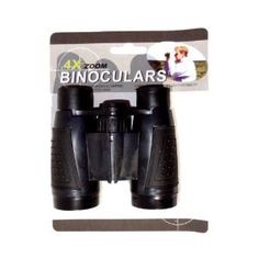 Junior explorers can see and know where they're heading with these lightweight, high-tech, soft-grip binoculars with attached neck strap. Large 30mm glass lenses, and an easy-turn central focusing feature, make distant objects 4x larger. Great for camping trips, nature walks, and around-town explorations. Grades K+ / Ages 5+