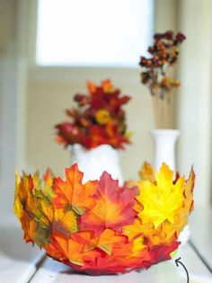 DIY Fall Decor Leaf Bowl is part of Autumn crafts Leaf Bowls - This is a project to celebrate fall to the fullest, with bright autumn colors that won't fade Here's how to make a DIY leaf bowl Kids Crafts, Leaf Crafts, Diy Craft Projects, Fall Crafts, Craft Kids, Leaf Projects, Fall Projects, Pumpkin Crafts, Holiday Crafts