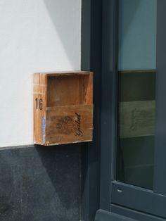 wooden mailbox, netherlands