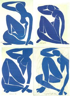 "vervediary: ""Nu bleu I, Nu bleu II, Nu bleu III, Nu bleu IV Henri Matisse 1954 """