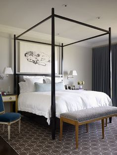 Looking for new stylish bedroom colors for your new design? White Bedroom Decor, Bedroom Colors, Home Bedroom, Master Bedroom, Bedroom Furniture, Bedroom Neutral, Bedroom Photos, Bedroom Ideas, Queen Size Canopy Bed