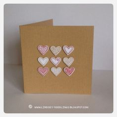 Stampin Up Language of Love, CAS cards