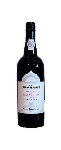 Graham's Quinta dos Malvedos Vintage Port 1999 heeft een klassieke donkere diepe kleur. Deze Vintage Port is nog uitermate gesloten in de neus. Enorme concentratie. Bijna `dik-stroperig. Graham's Quinta dos Malvedos Vintage Port 1999 heeft mooie geconcentreerde fruittonen, bessen, kruisbessen, iets van maggi aroma en chocolade. De smaak is vol en krachtig met een rond mondgevoel. De rijpe tannine is goed verwerkt in de wijn. De smaak blijft lang nahangen. Traditionele vinificatie.