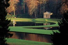 Studley Royal Water Garden, North Yorkshire, England.