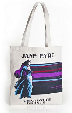 Jane Eyre Charlotte Bronte Out Of Print Tote Hand Bag Jane Eyre Book, Charlotte Bronte Jane Eyre, Literary Gifts, Classic Books, Book Lovers, The Book, Reusable Tote Bags, My Style, Cotton Bag
