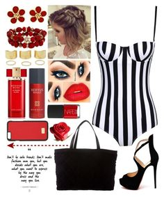 """""""//Lines//"""" by kokoxx on Polyvore featuring Dolce&Gabbana, Christian Louboutin, Chanel, Mixit, Estée Lauder, Givenchy and NARS Cosmetics"""