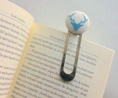 Head stag  Modern embroidery bookmark handmade  by Gluckhandmade, €8.00