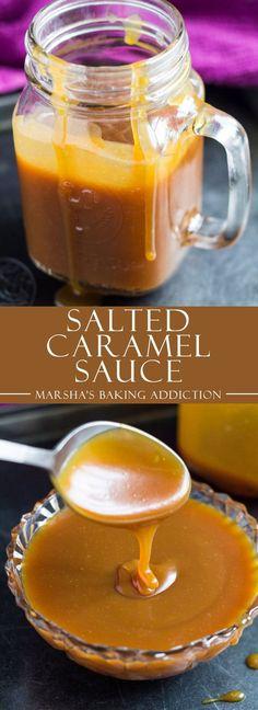 Homemade Salted Caramel Sauce   marshasbakingaddiction.com @marshasbakeblog