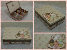 Cupcake Tea Decoupaged Box by CLVLArtsBrazil on Etsy, $50.00