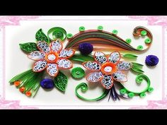 quilling artwork | Made Easy # How to make Beautiful Flower using Paper -Quilling greeting Card - YouTube