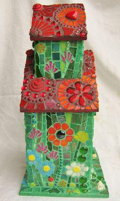 Love Nest - Mosaic Birdhouse