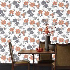 50 - Eden Floral Wallpaper in Orange design by Graham & Brown