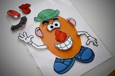 Play w toys appropriately/visual for following directions - use real Mr. Potato Head toy