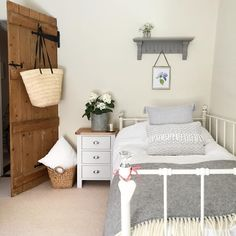 Portland Grey Bedside from The Cotswold Company Home Bedroom, Bedroom Decor, Calm Bedroom, Bedroom Ideas, Cosy Cottage, Cottage Renovation, Cottage Interiors, Spare Room, Bedroom Styles