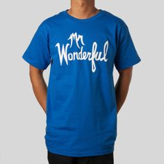 Wonderful Tee in Royal #dustincanalin #upperplayground @Upper Playground #wonderful #tshirt #anthonyminghella #mattdillon