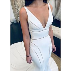 Final fitting of our Classic Wedding Dress, White Wedding Dresses, Bridal Dresses, Mermaid Trumpet Wedding Dresses, Mermaid Dresses, Fit And Flair, Bridal Reflections, Wedding Dress Gallery, Cheap Wedding Dresses Online