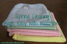 Love these microfiber cloths for washing dishes, general kitchen and bathroom clean up.  Easy on-line store. $5 each or $20 for 4.  www.ultramicrofibers.com #microfiber #cleaning