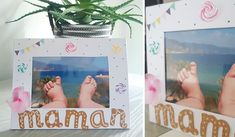 cadre maman à décorer pour la fête des mères Photos, Polaroid Film, Frame, Diy, Paper Frames, Mother's Day Diy, Wedding Anniversary, Cadre Photo, The Sea