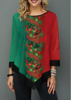 New Arrival | Liligal.com Stylish Tops For Women, Trendy Tops For Women, Christmas Fashion, Fall Fashion, Christmas Print, Christmas Snowman, Christmas Stuff, Casual Outfits, Women's Casual