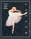 This attractive stamp, designed by Derry Noyes, celebrates American Ballet. It was issued by the United States on September 16, 1998.