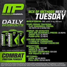 MP Daily Workout Tuesday Mix of Methods #WeLiveThis #MPNation #RealAthletesRealScience